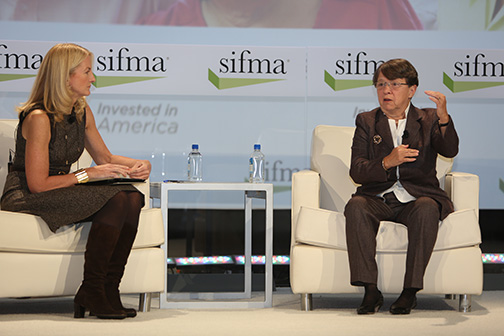 Mary Jo White, SEC Chair, and CNBC's Mary Thompson meet to discuss the state of regulation in finance.
