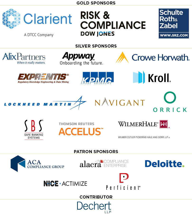 Anti-Money Laundering and Financial Crimes Conference - sponsors 809