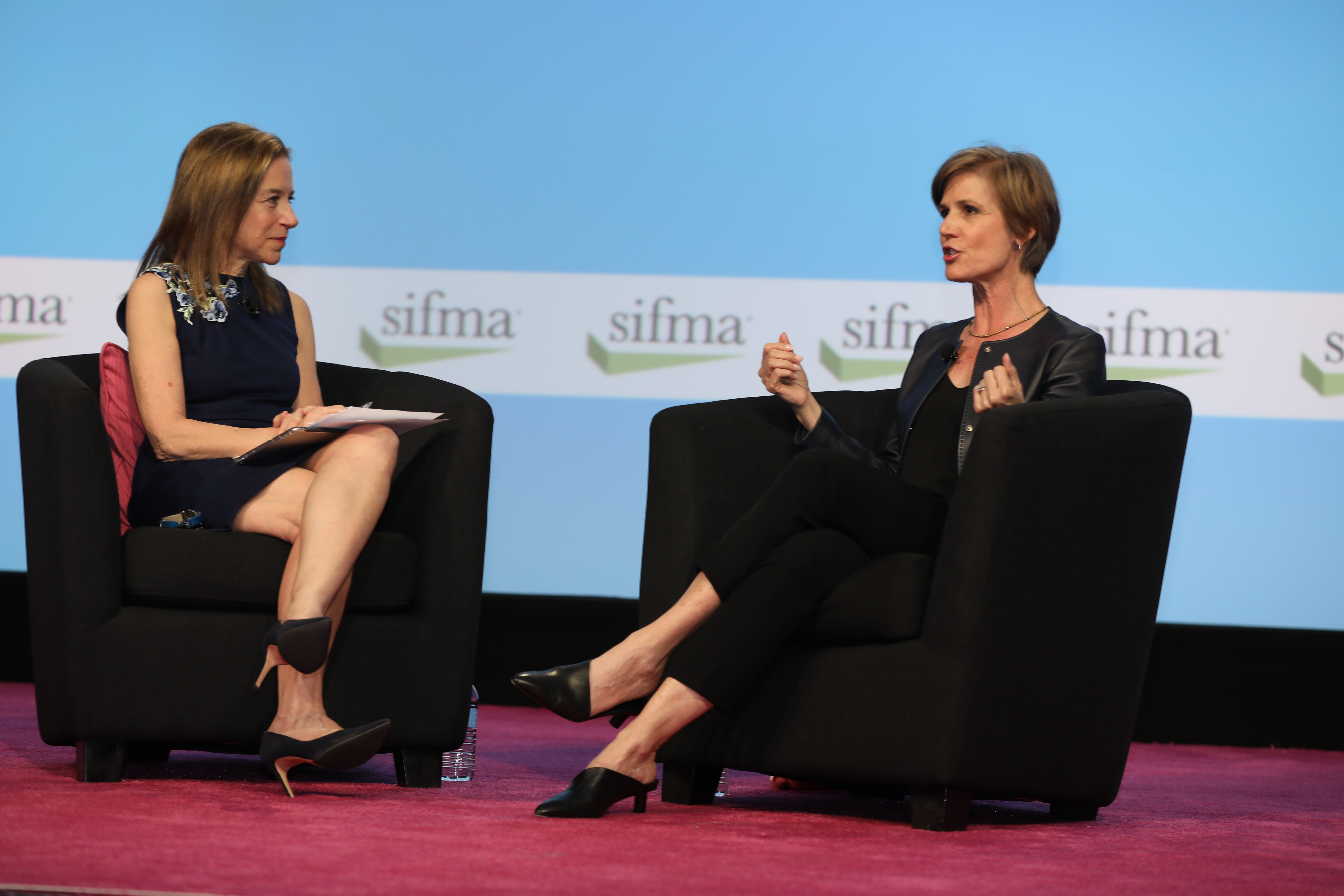 Elaine Mandelbaum, president of the SIFMA C&L Society, and Sally Yates discuss Sally's remarkable career at the 2019 SIFMA C&L Annual Seminar.