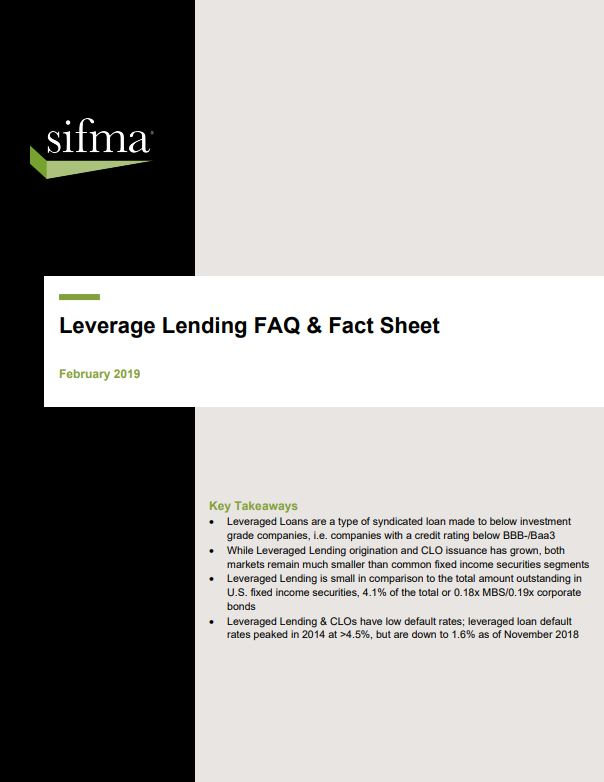 Leveraged Lending FAQ and Fact Sheet