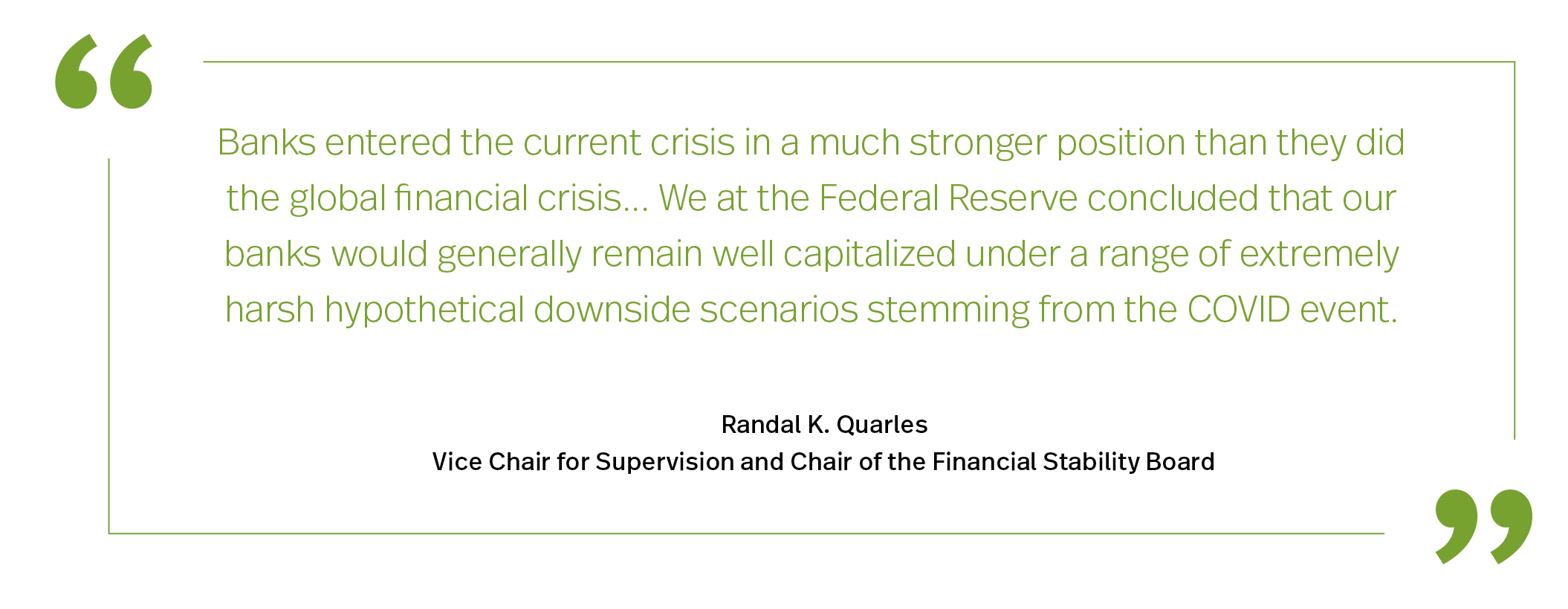 Prudential Regulation of the Capital Markets - Quarles Quote